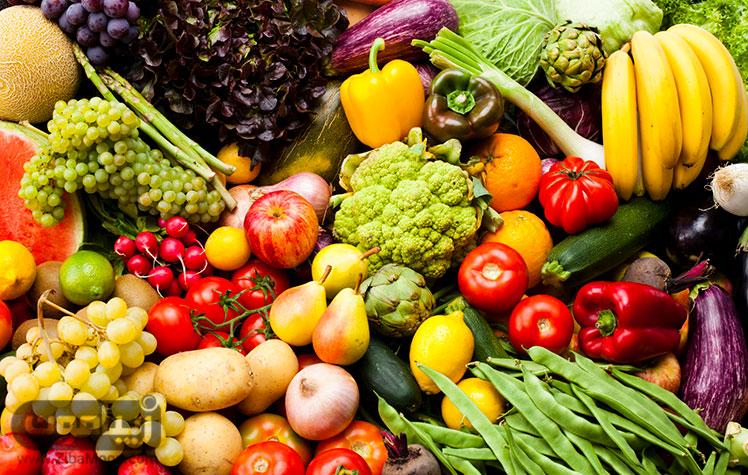 میوه ها و سبزیجات برای چاقی صورت