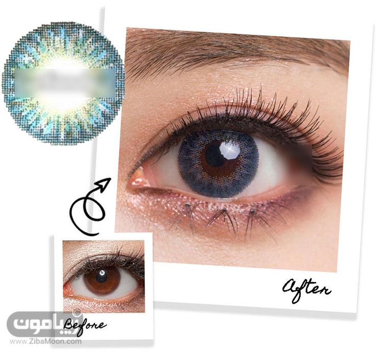 لنز چشم آبی