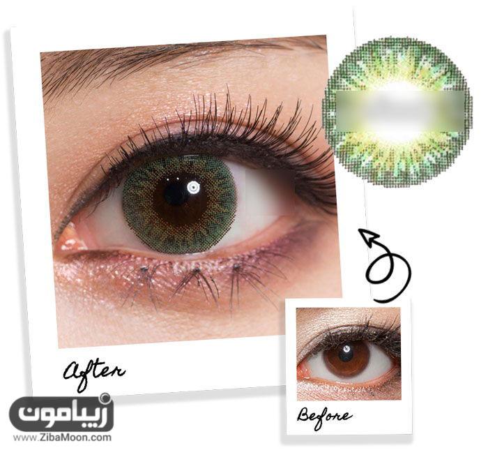 لنز چشم سبز