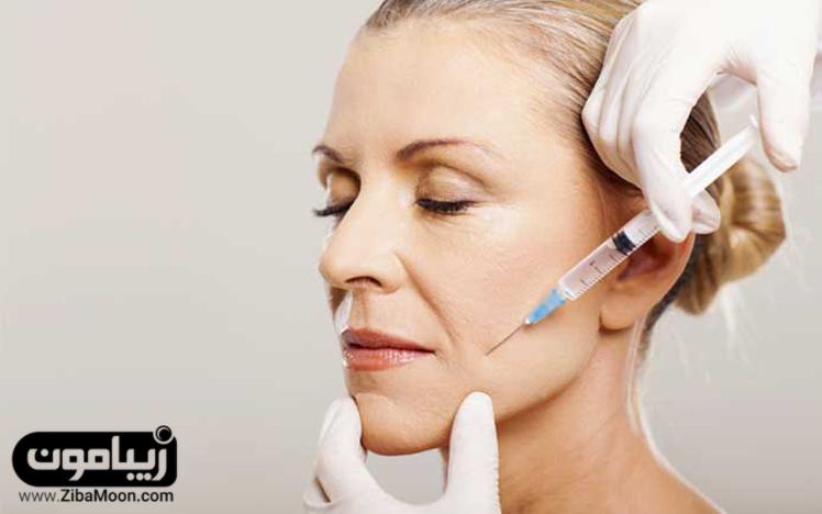 صورت چروک و تزریق بوتاکس