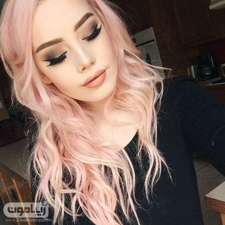 رنگ مو صورتی روشن