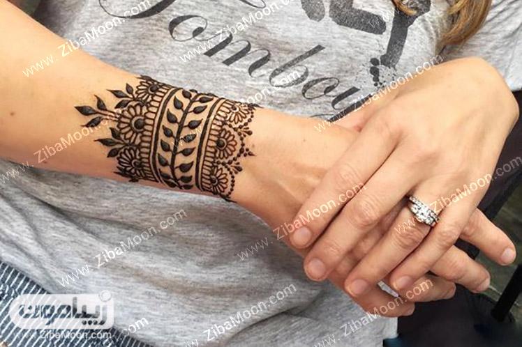 طرح حنا زیبا روی مچ دست