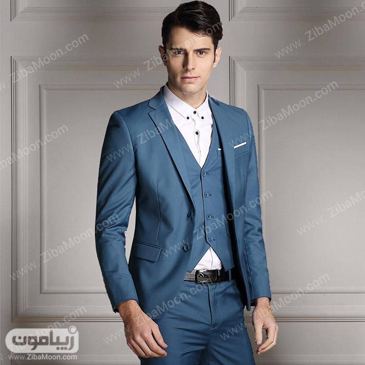 استایل مردانه با کت و شلوار آبی
