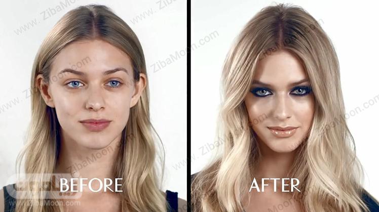 قبل و بعد از آرایش صورت مهمانی