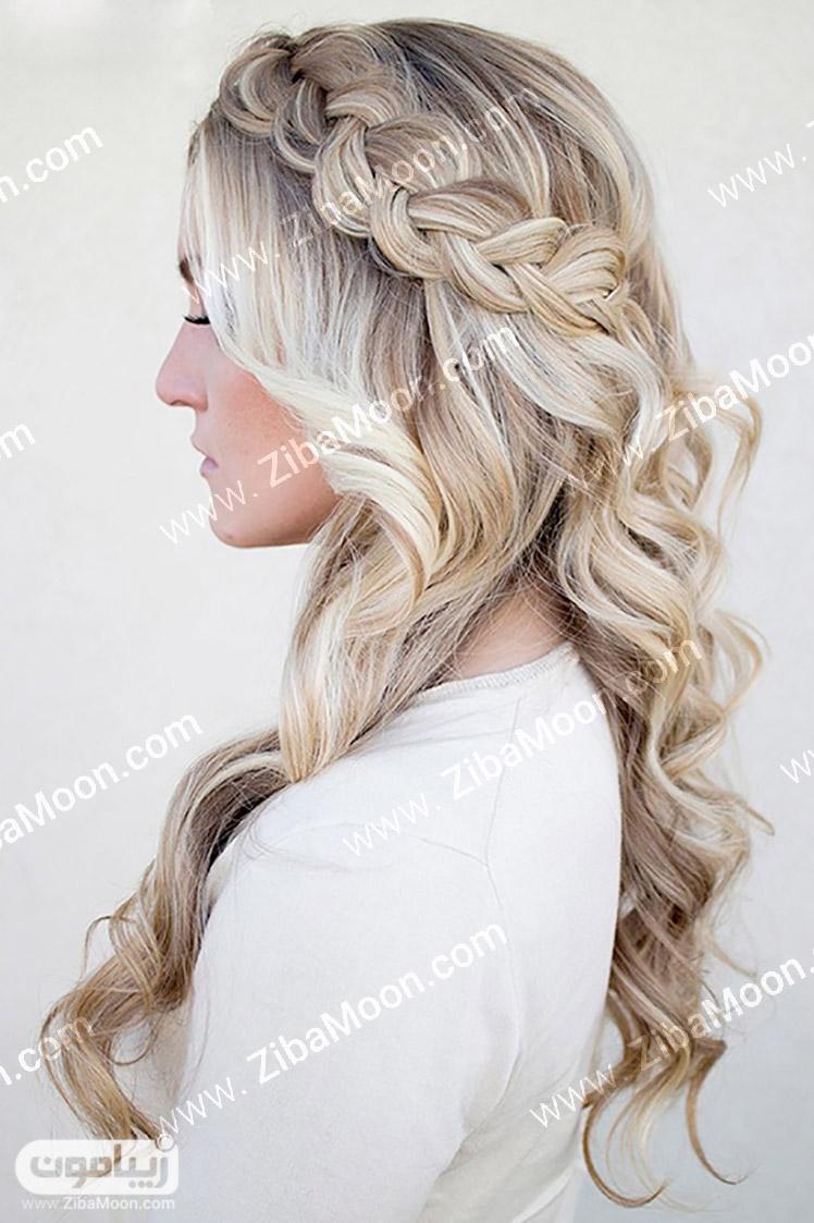 شینیون جلوی سر گالری جدیدترین مدل موی باز دخترانه و زیبا - زیبامون