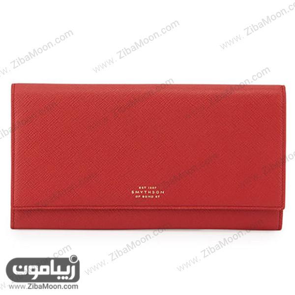 کیف پول دخترانه قرمز از برندPanama Marshall
