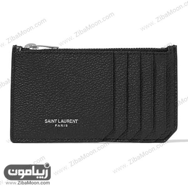 کیف پول چرمی زنانه از برندSaint Laurent