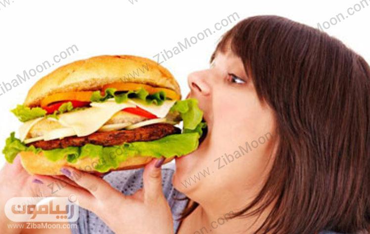 خوردن غذای پرکالری