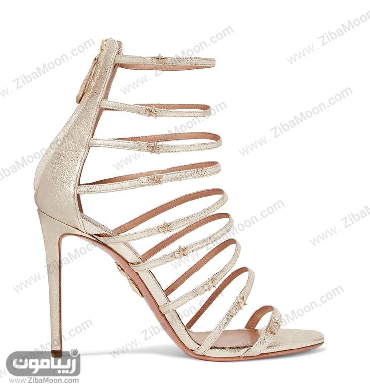 کفش عروس با بندهای باریک