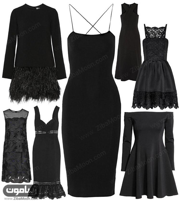 مدل های مختلف لباس زنانه مشکی