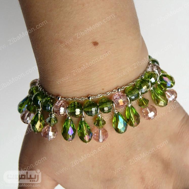 دستبند کریستالی زیبا