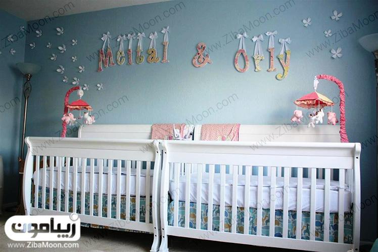 تخت خواب برای نوزادان دوقلو