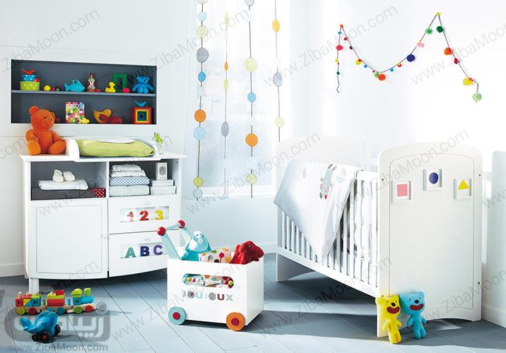 دیزاین ساده و اسپرت اتاق کودک