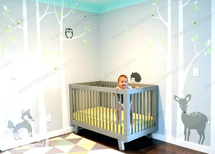 کاغذ دیواری اتاق نوزاد پسر