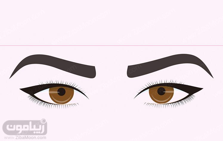 مدل خط چشم دنباله دار متناسب با چشم با پلک کوتاه