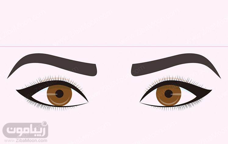 مدل خط چشم دنباله دار متناسب با حالت چشم بادامی