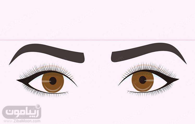 مدل خط چشم دنباله دار متناسب با حالت چشم گرد