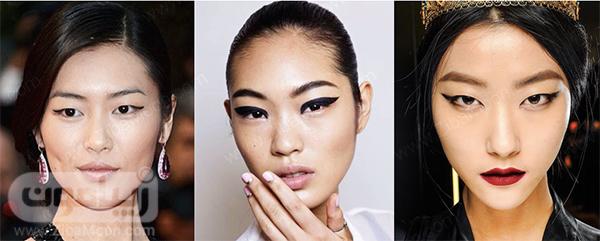 مدل چشم آسیایی با پلک کوتاه