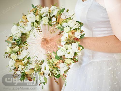 دسته گل عروس با طراحی خاص