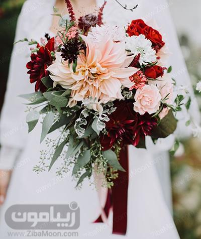 مدل دسته گل عروس با گلهای پاییزی و جذاب