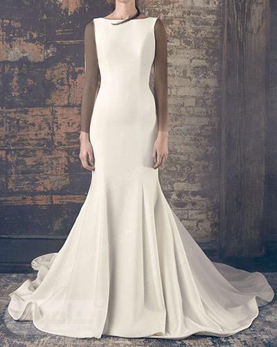 لباس عروس دم ماهی ساده و شیک