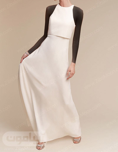 لباس عروس ساده و شیک با بالاتنه مجزا
