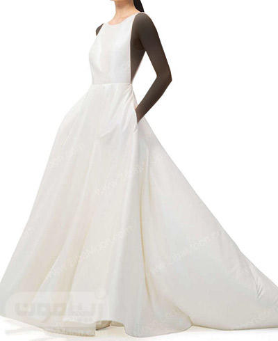 لباس عروس زیبا با دامن پف دار