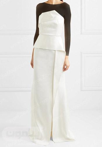لباس عروس دکلته با طراحی شیک و خاص