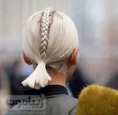بافت مو ساده برای موهای کوتاه