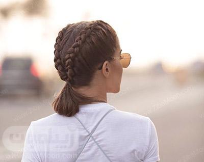 بافت مو هلندی دو رشته ای روی موهای کوتاه