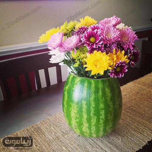 گلدان با هندوانه تم یلدا