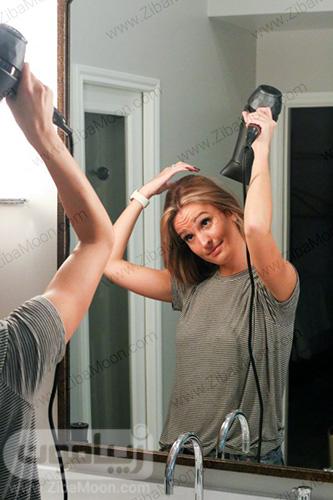 روش صاف کردن مو با سشوار