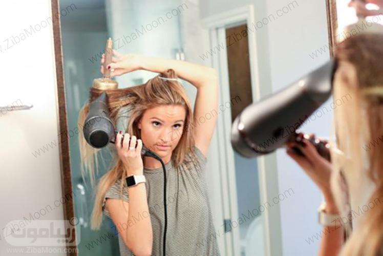 سشوار کشیدن کنار مو