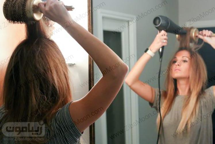 صاف کردن جلوی مو