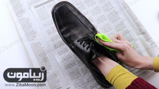 پولیش کشیدن کفش