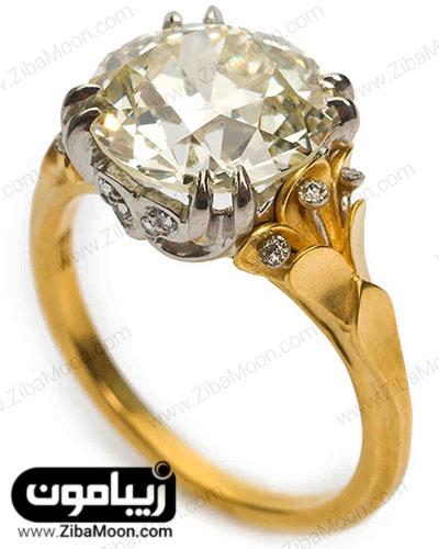 انگشتر طلا زرد و طلا سفید