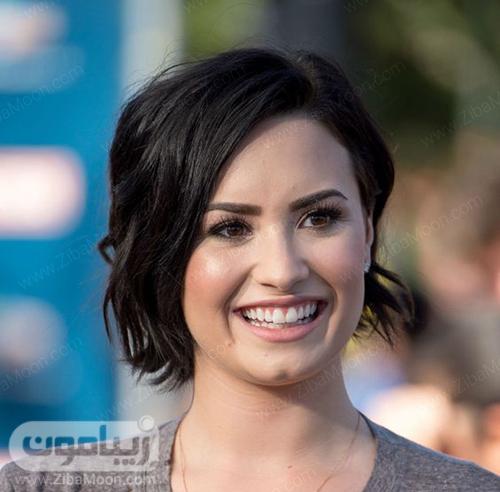 مدل مو کوتاه شیک زنانه با رنگ مو مشکی