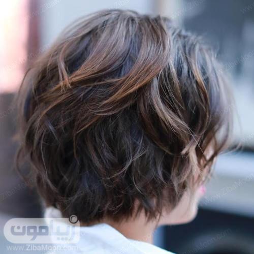 مدل مو کوتاه برای موهای موج دار