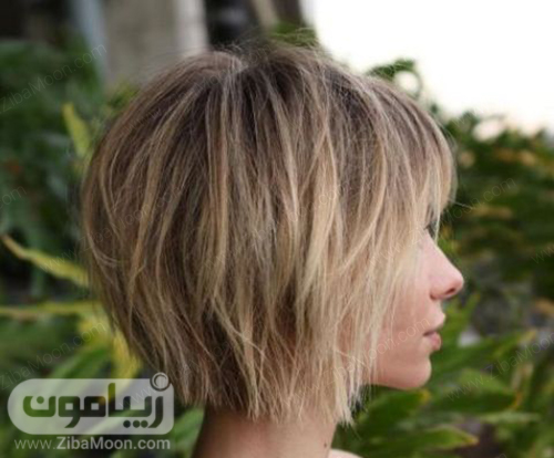 مدل مو کوتاه مدرن با حالت لایه ای