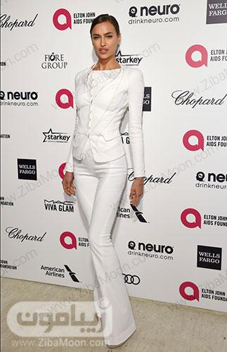 ایرینا شایک در مراسم جوایز آکادمی سالانه بنیاد ایدز التون جان در 2015