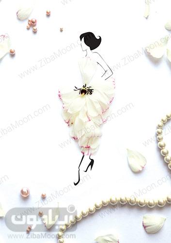 نقاشی گل و مروارید