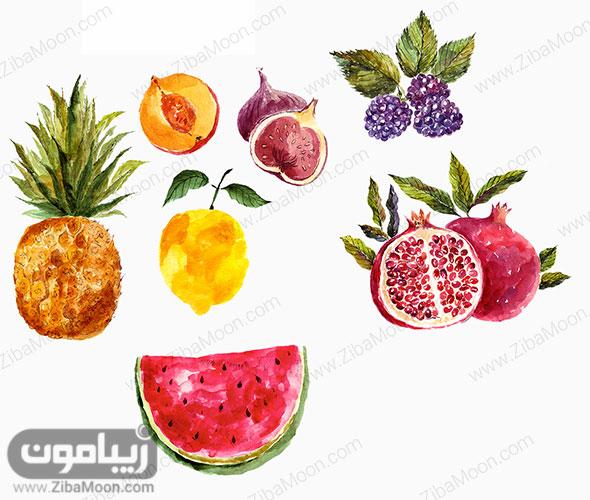 میوه های آبرنگی