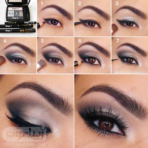 سایه چشم مناسب برای چشم قهوه ای 1