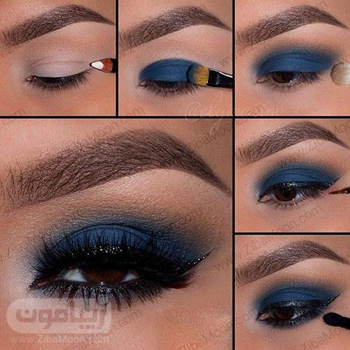 سایه چشم مناسب برای چشم قهوه ای 2