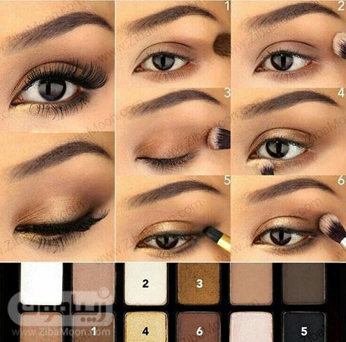 سایه چشم مناسب برای چشم قهوه ای 3