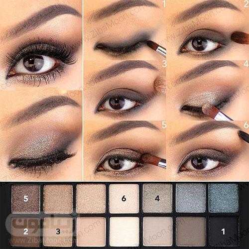 سایه چشم مناسب برای چشم قهوه ای 4