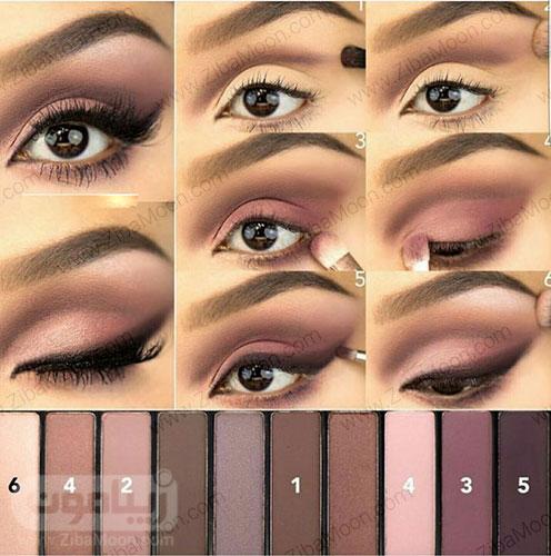سایه چشم مناسب برای چشم قهوه ای 6