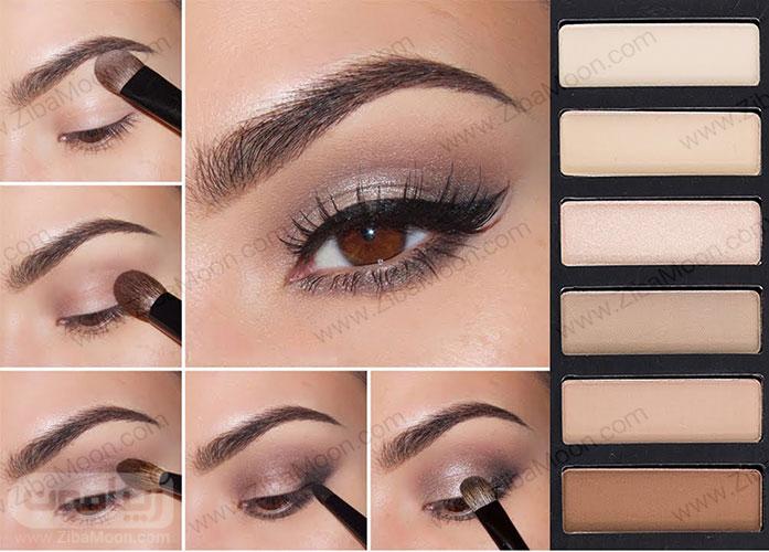 سایه چشم مناسب برای چشم قهوه ای 7