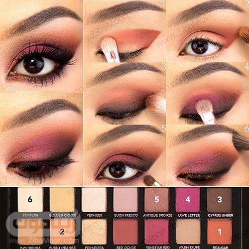 سایه چشم مناسب برای چشم قهوه ای 5