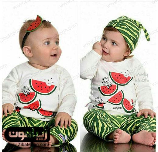 عکس کودک با تم یلدایی